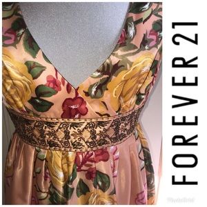 Gorgeous Forever 21 beaded floral dress